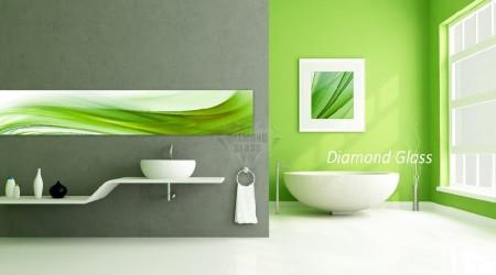Grafika na ścianę – zielona abstrakcja