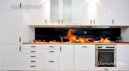 Panel kuchenny – ogień